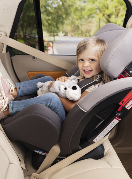 Turn2Me car seat with smiling baby boy